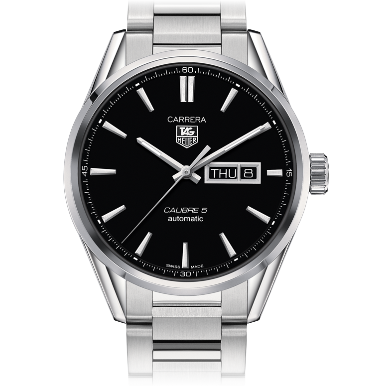 Tag Heuer Carrera Calibre 5 Day-Date 41MM Black Dial