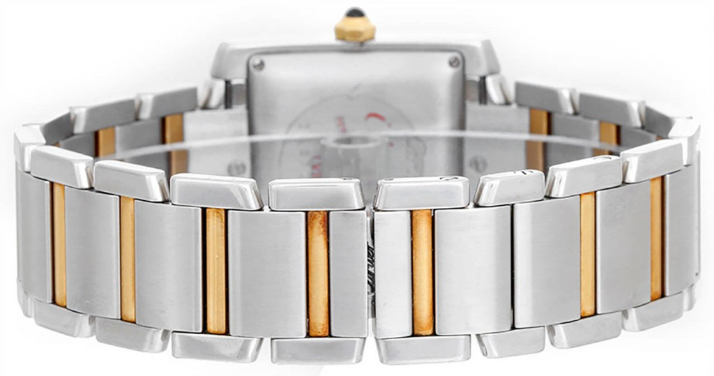 Cartier Tank Française Steel & Yellow Gold Bracelet Watches