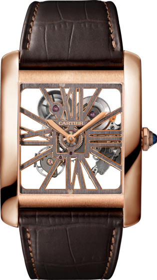 Cartier Tank MC Skeleton Pink Gold Copy Watches
