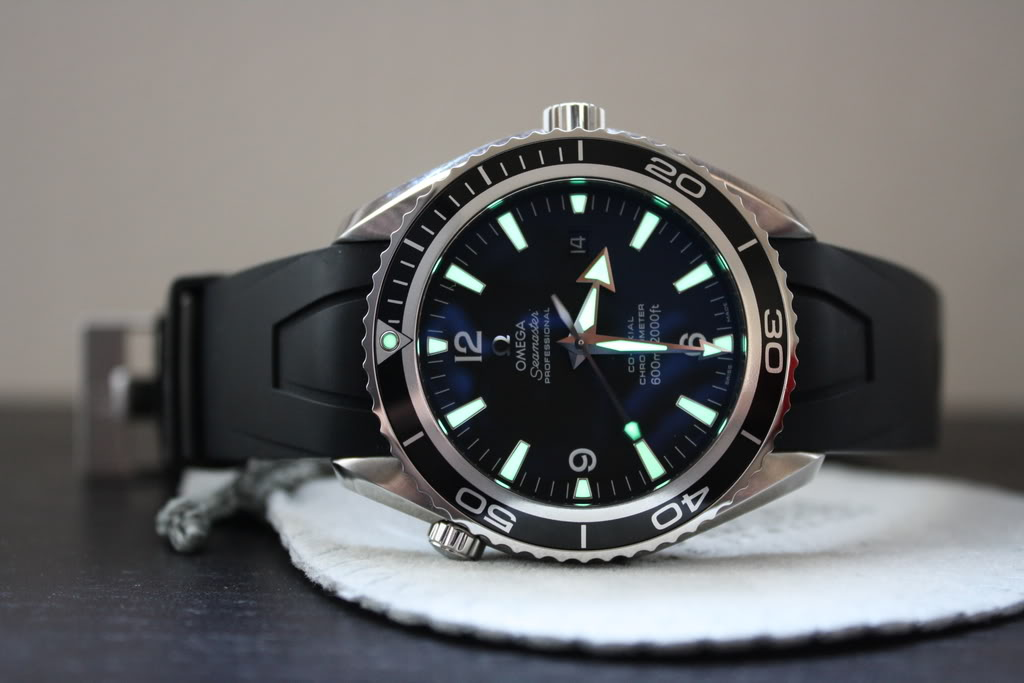 Omega Seamaster Black Rubber Strap Replica Watches