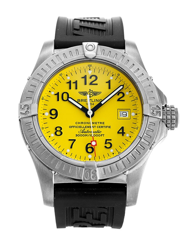 Breitling Avenger II Seawolf Yellow Dial Copy Watches