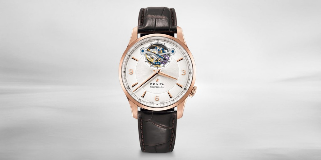 Zenith Elite Tourbillon Silver Dial Rose Gold Case Watch