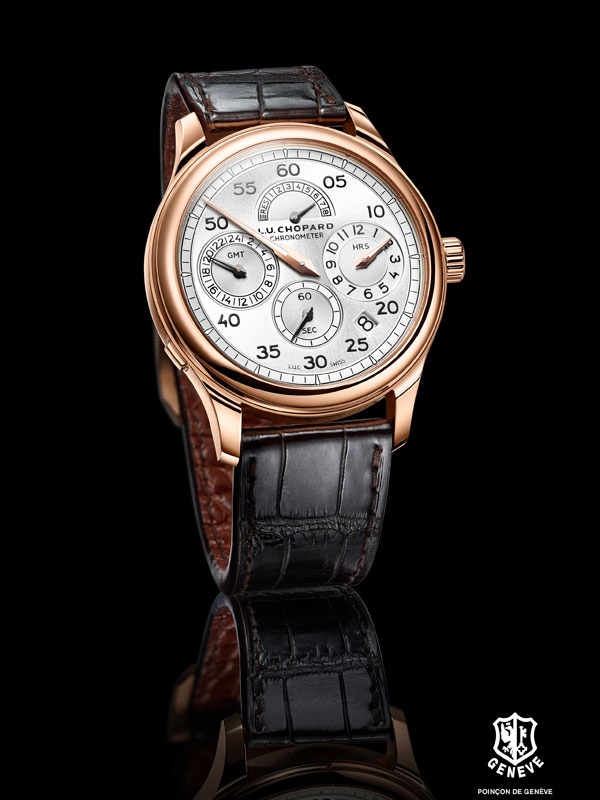 18k rose gold Chopard L.U.C Regulator replica