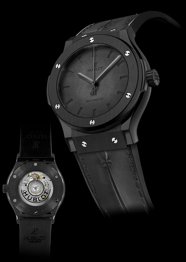 Hublot Berluti All Black Copy Watches