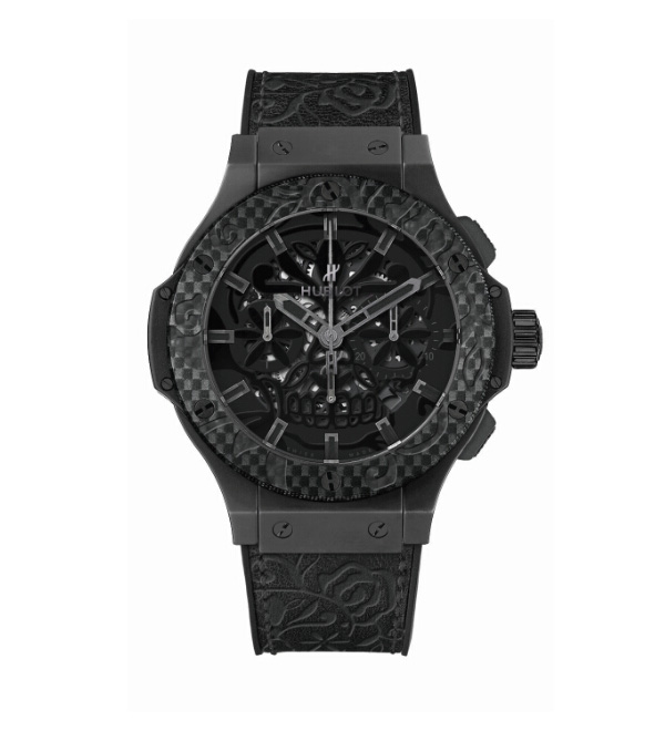 all balck hublot Big Bang Aero Band Sugar Skull replica