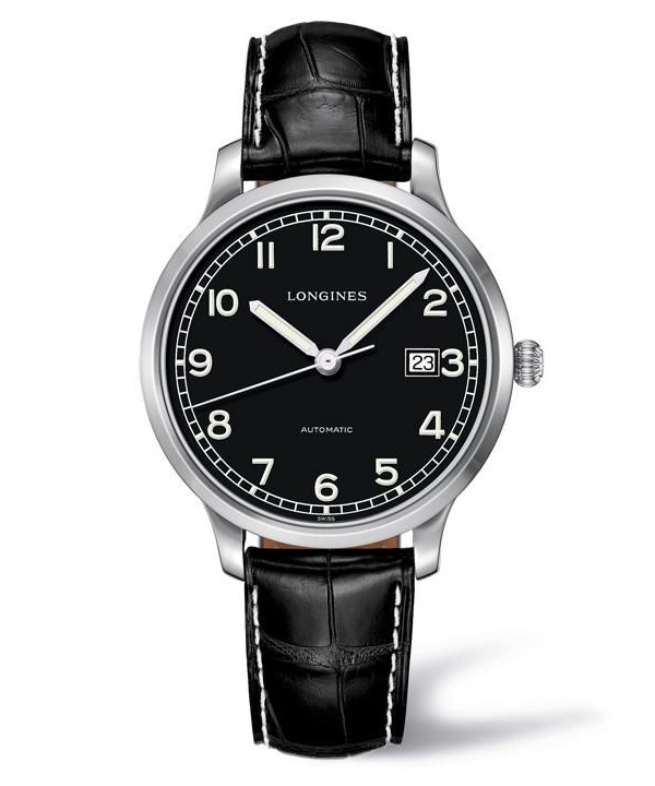 black dial copy Longines Heritage Military 1938