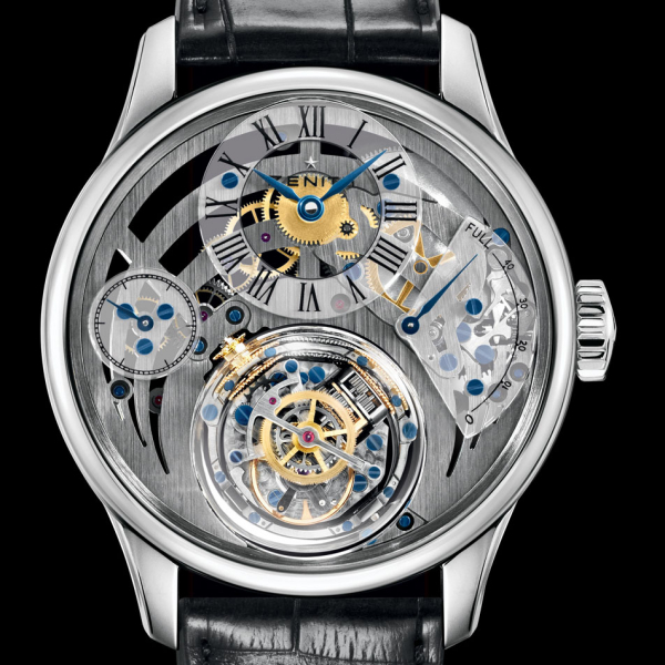 grey dial Zenith Academy Christophe Colom copy watches