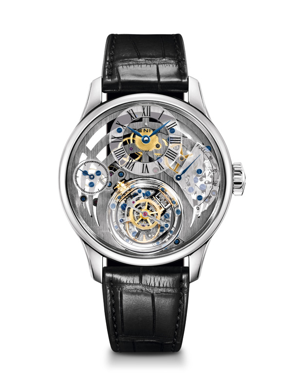 leather strap Zenith Academy Christophe Colomb replica