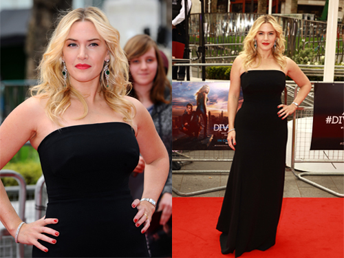 Kate Winslet and diamond bezel copy Longines DolceVita