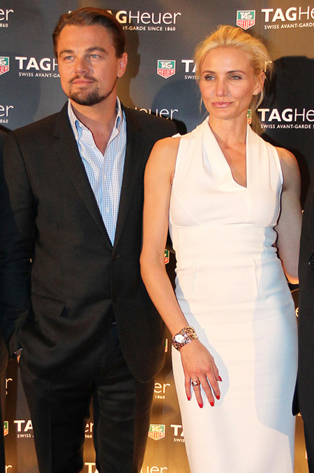 Leonardo DiCaprio and black dial copy Tag Heuer Monaco