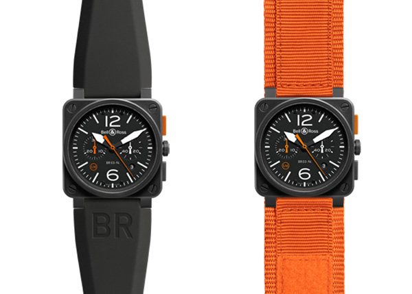 black dial fake Bell & Ross BR 03-94 Carbon Orange