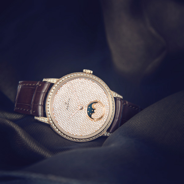 rose gold case fake Zenith Elite Lady Moonphase