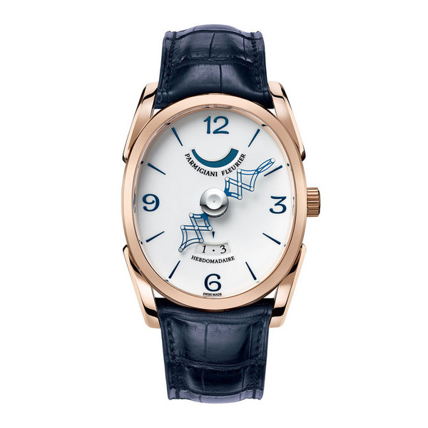 rose gold case Replica Parmigiani Ovale Pantographe Watches