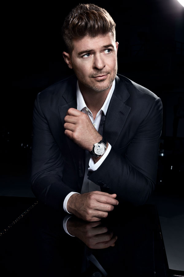Robin Thicke and fake Harry Winston Midnight Moon Phase 42mm