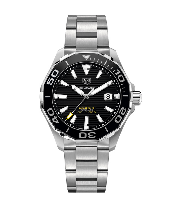 black dial replica TAG Heuer Aquaracer 300M Calibre5