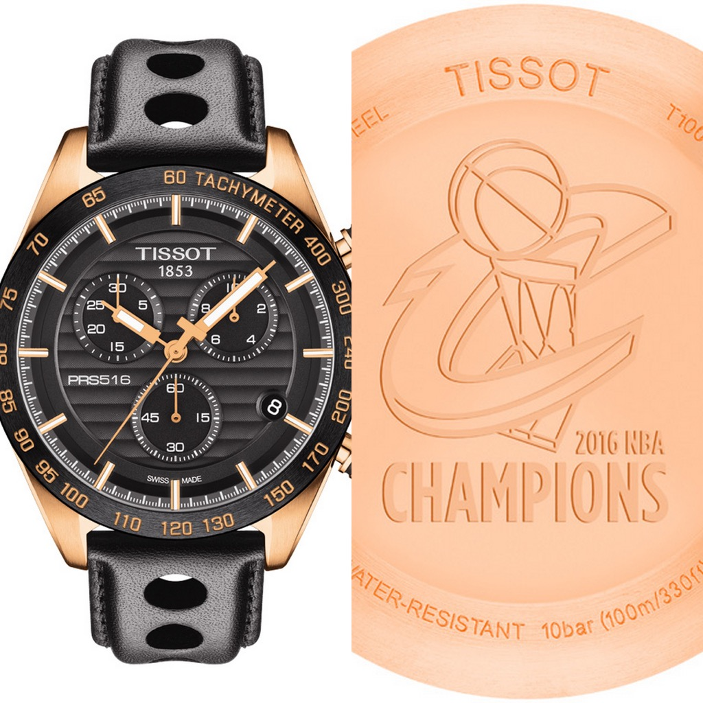 yellow gold case replica Tissot PRS 516 2016 NBA