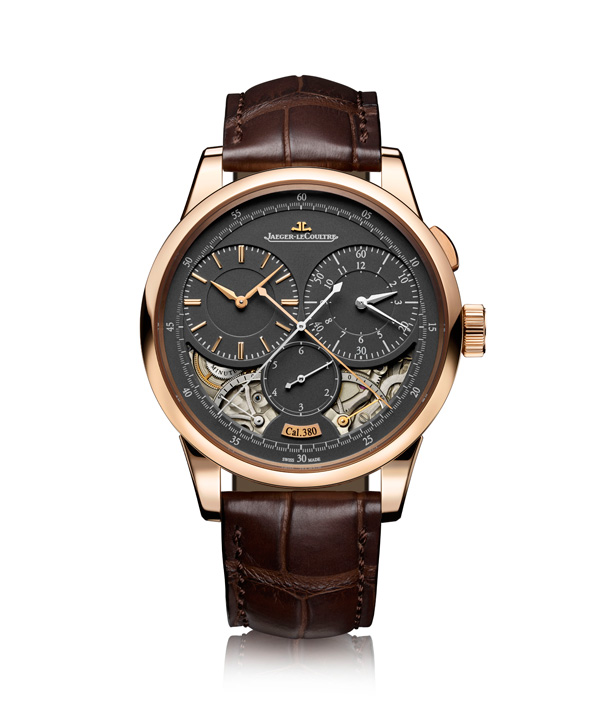 rose gold case fake Jaeger-LeCoultre Duomètre Chronographe