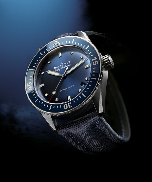 blue dial replica Blancpain Fifty Fathoms Bathyscaphe
