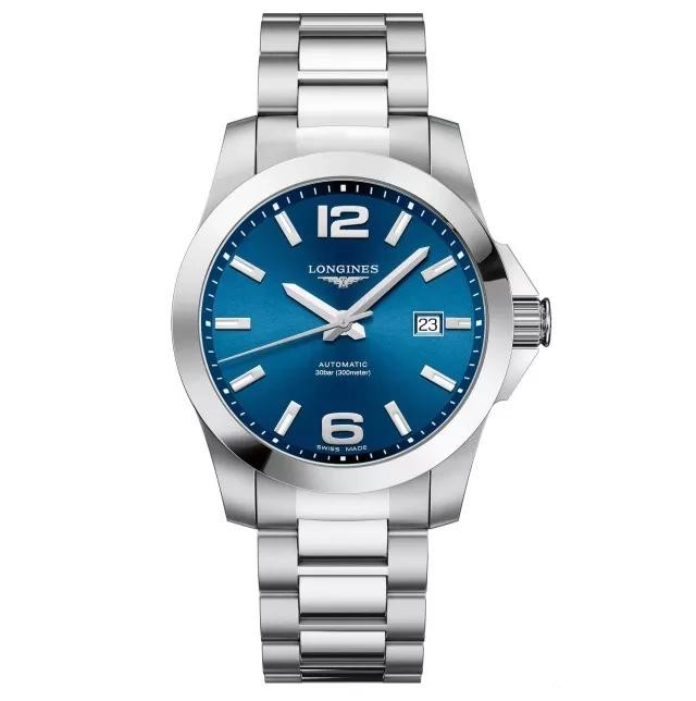 Longines Conquest replica watches with blue dials are in simple design.
