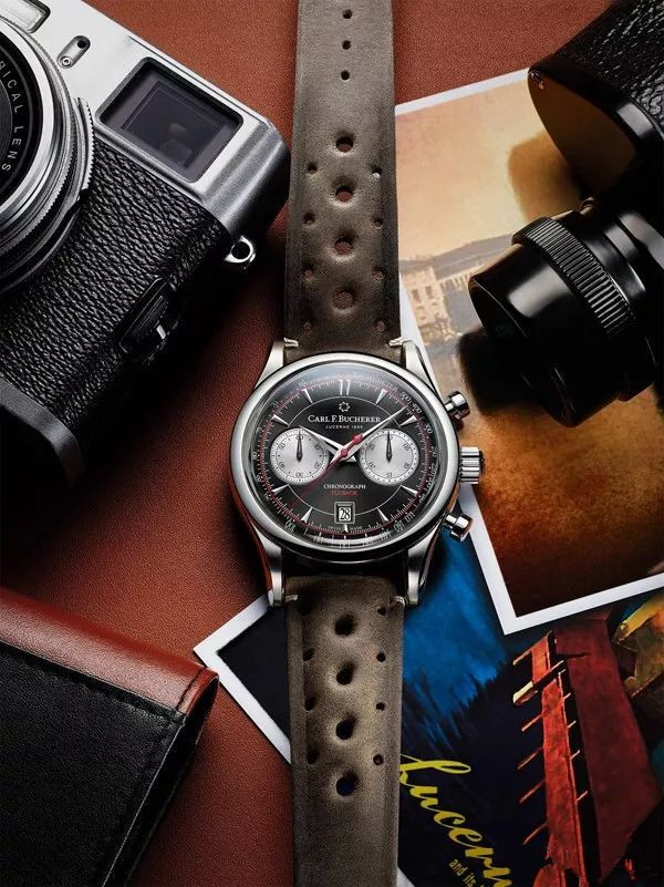With discount price, you can also feel Swiss watchmaking from black dials Carl F. Bucherer Manero fake watches.