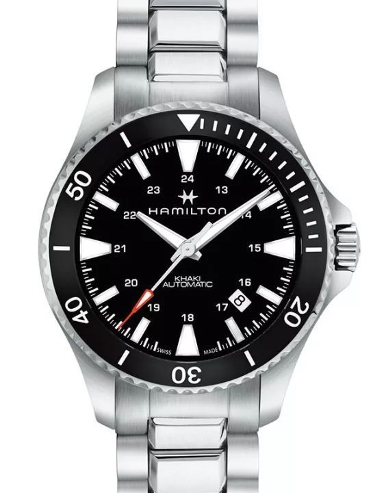 Hamilton Scuba copy watches with black dials are in same black bezels.