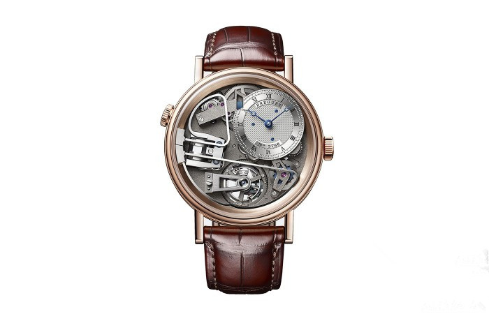 Fake Breguet watches with rose golden cases are full of depth.