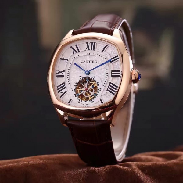 The 18k rose gold fake watches have tourbillons.