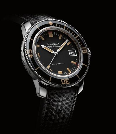 The Blancpain sports a distinctive look of retro style.