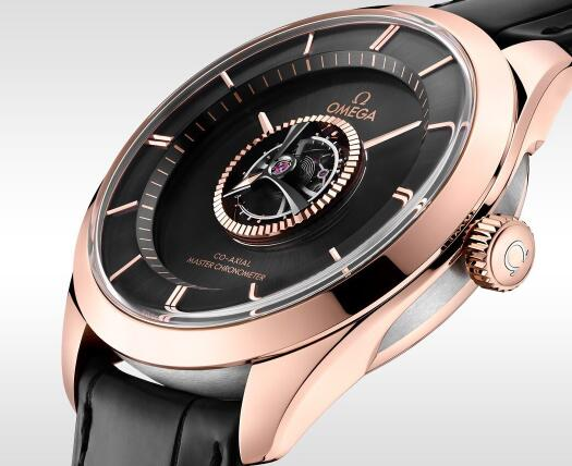 The central tourbillon Omega looks eye-catching and technological.