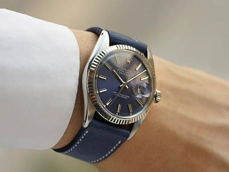 Swiss fake watches are charming with blue color.