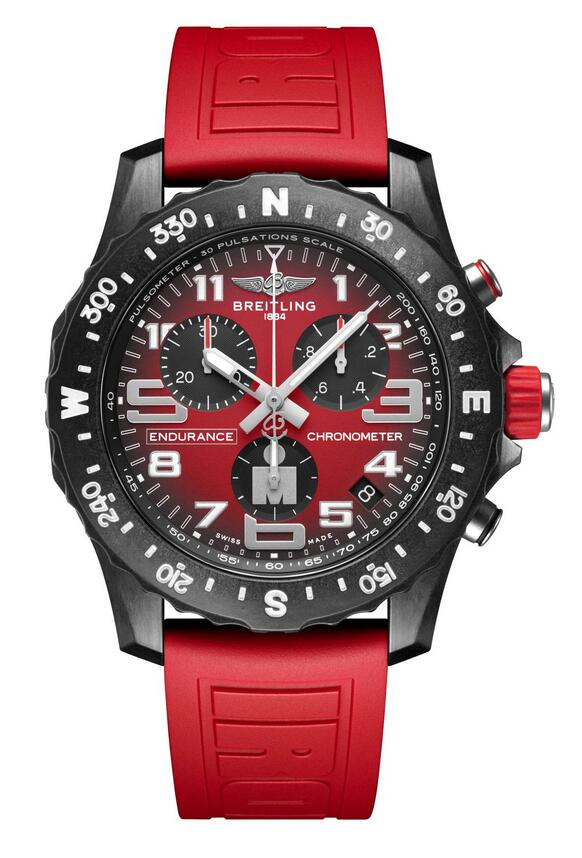 Swiss fake watches bring energy with red color.